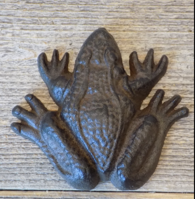 CAST IRON FROG PAPER WEIGHT