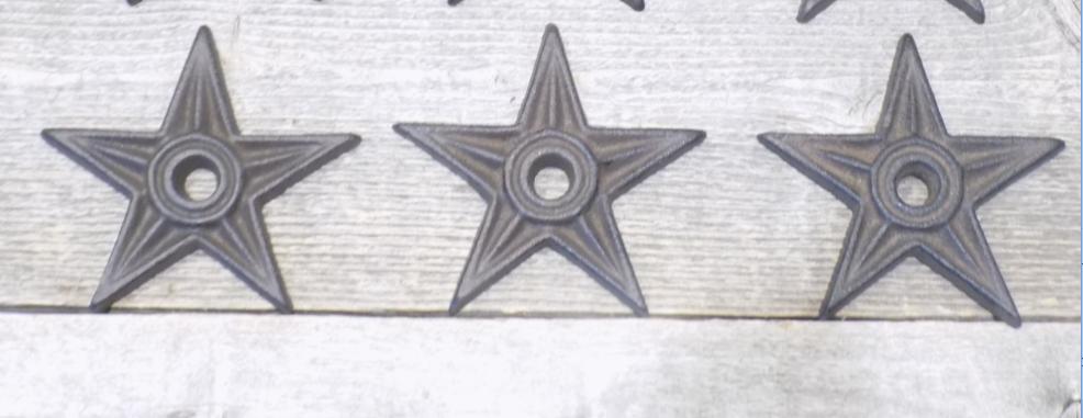 Cast Iron Star Washers 3 7/8