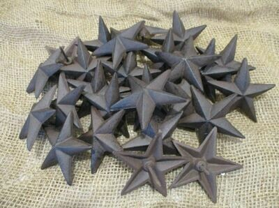 CAST IRON RUSTIC STAR NAILS 3 1/2