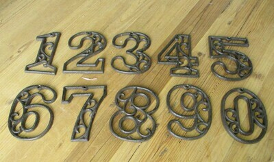 CAST IRON NUMBERS SETS 0-9