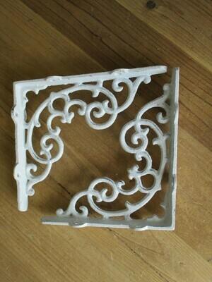 Cast Iron Shelf Brackets White 6.5