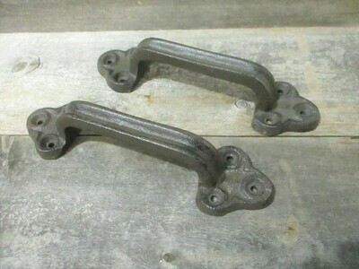 Large Rustic Cast Iron Barn Handles Gate Pull Shed Door Handle
