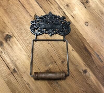 Cast Iron Ornate Toilet Paper Holder