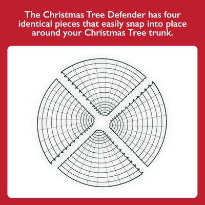 Christmas Tree Defender/Potted Plant Protector (Green)