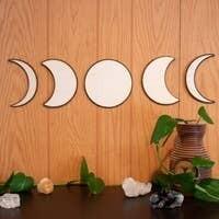 5 Piece Moon Phase Wall Art