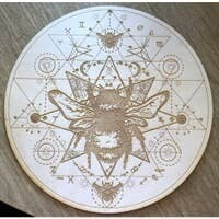Bee Crystal Grid