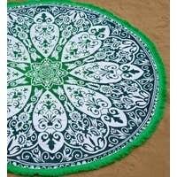 Maya Roundie Tapestry - Green