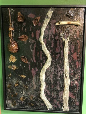 Snakes & Roses Large Canvas