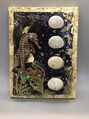Sea Horse & Shells Canvas