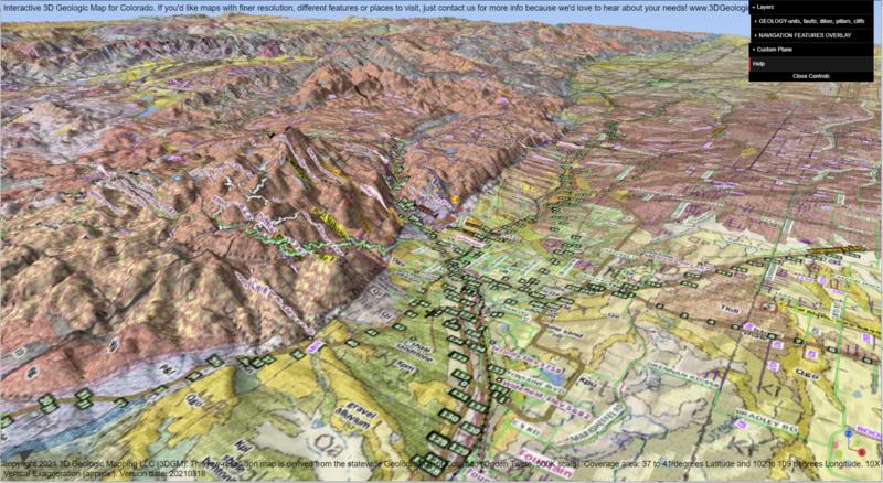 3D Geologic Map of Colorado