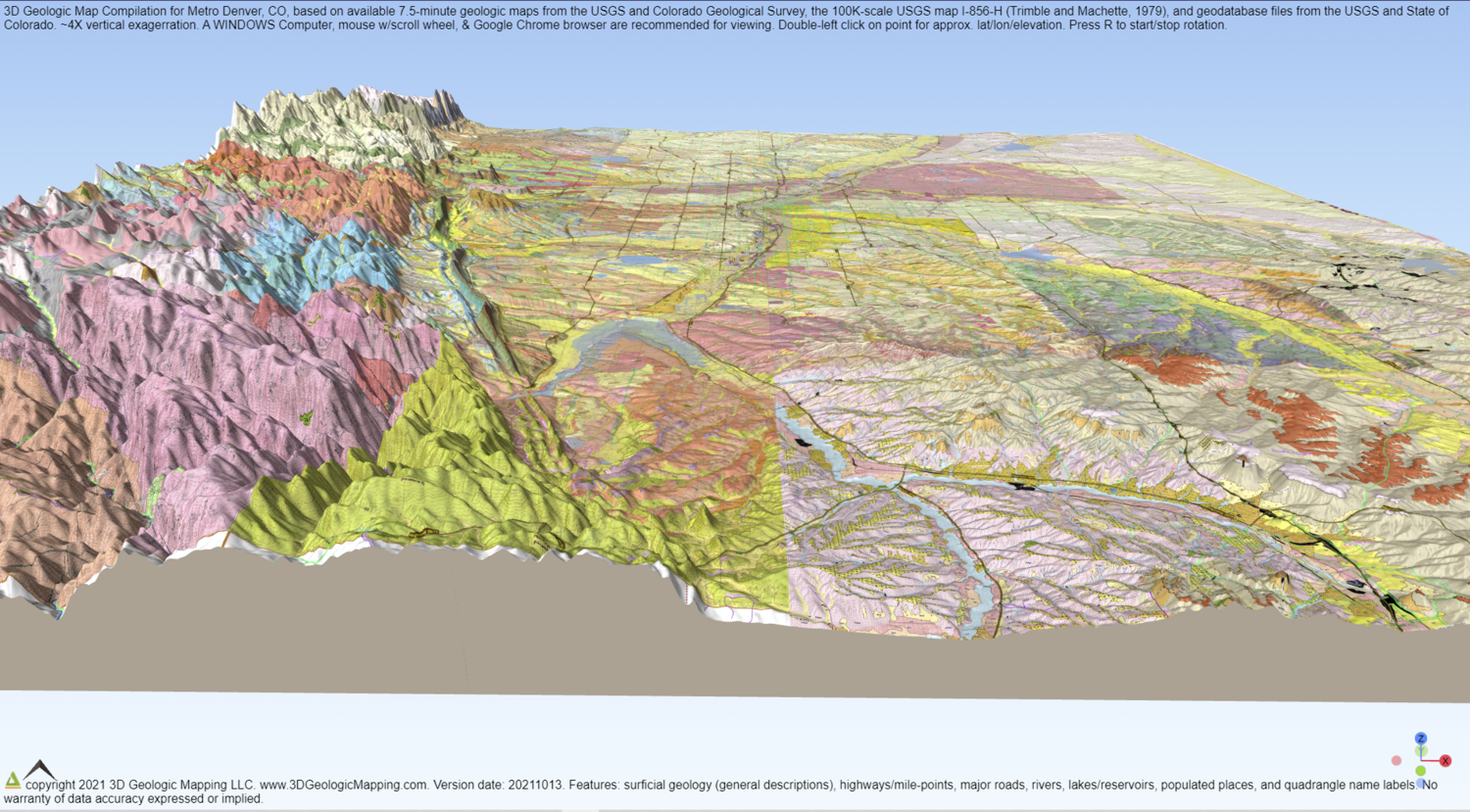Detailed 2D and 3D Geologic Maps of Metro Denver (2 files)