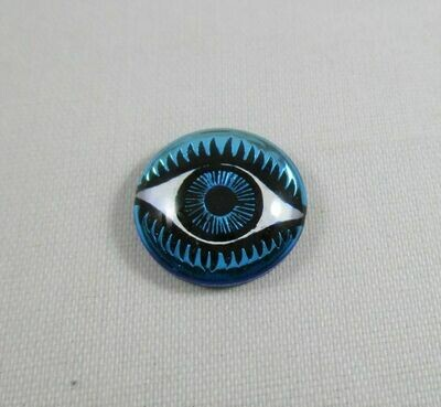 14 mm Eye Cabochon - Brilliant Blue