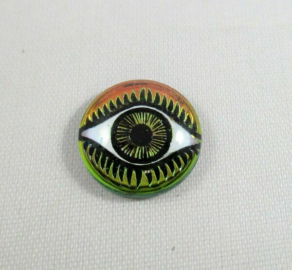 14 mm Eye Cabochon - Chartreuse & Pink