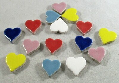 Ceramic Hearts - Assorted Colors