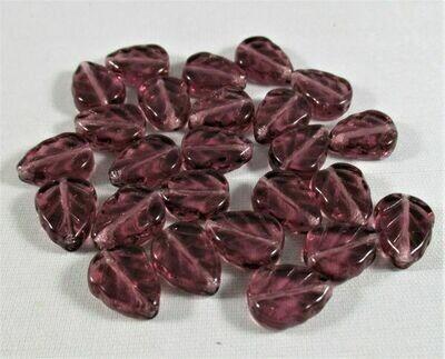 Amethyst Glass Leaves