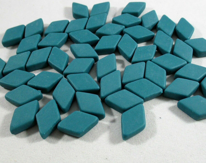 Teal Diamond Tiles - Molded Glass