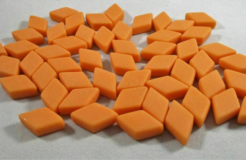 Orange Diamond Tiles - Molded Glass