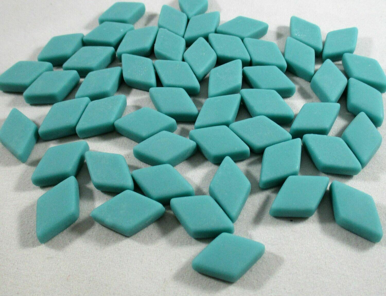 Turquoise Diamond Tiles - Molded Glass