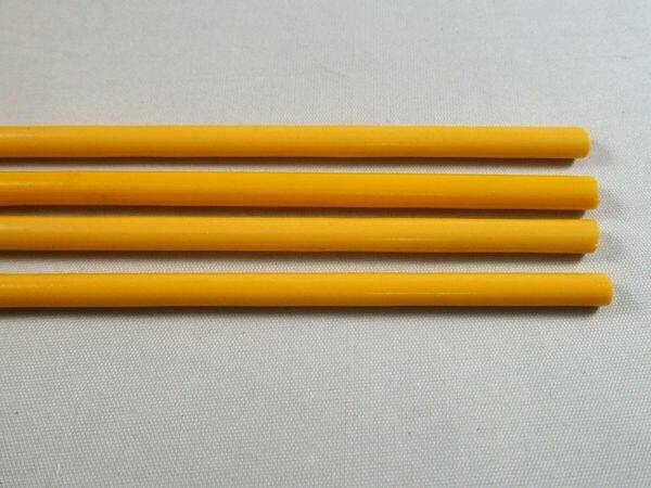 Dark Yellow Glass Rods