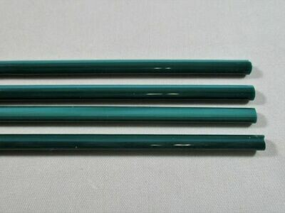Teal Green Glass Rods