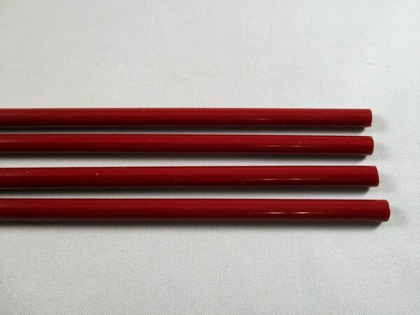 Dark Red Glass Rods