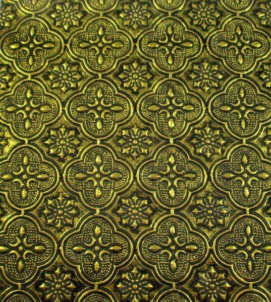 Gold Flora Glass Sheet
