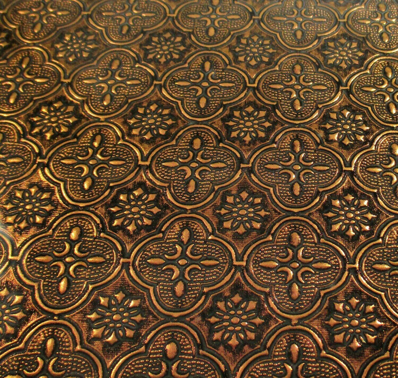 Copper Flora Glass Sheet