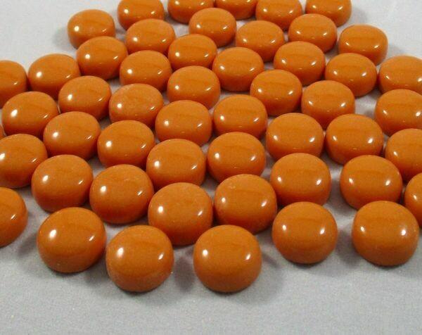 Orange Glass Dots