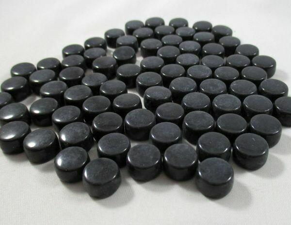 Black Glass Mini Dots