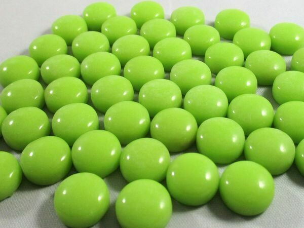 Chartreuse Glass Dots