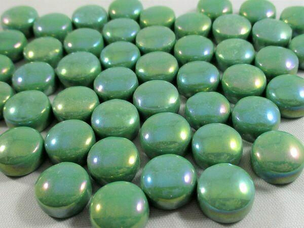Iridized Spearmint Glass Dots
