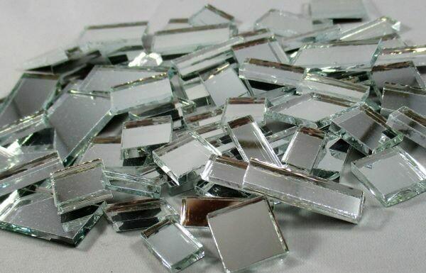Silver Mirror Offcuts 1/2 Lb