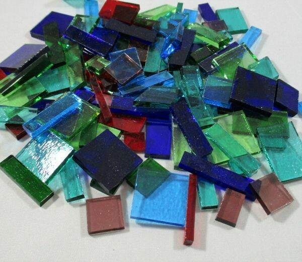 Transparent Mix Stained Glass Offcuts 1/2 Lb
