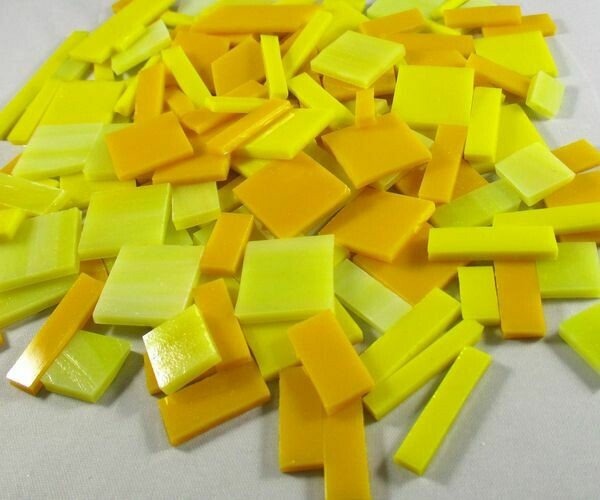 Yellow Mix Stained Glass Offcuts 1/2 Lb