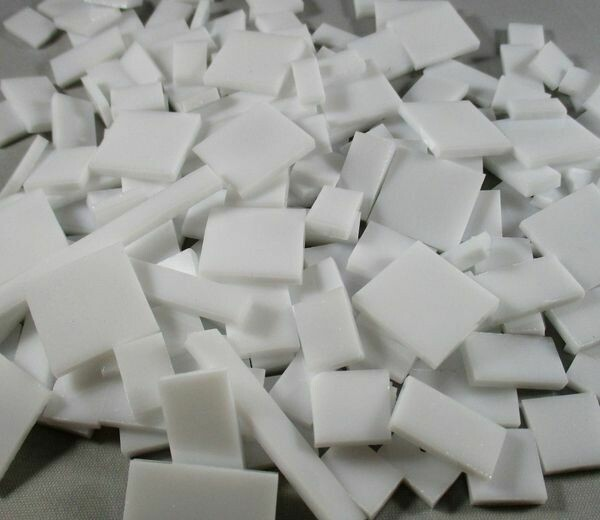 Opaque White Stained Glass Offcuts 1/2 Lb
