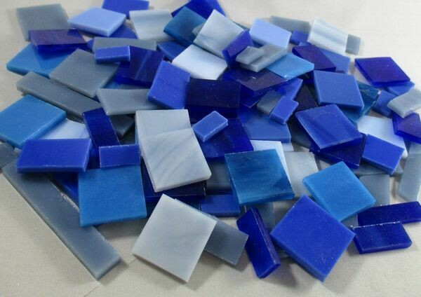 Blue Mix Stained Glass Offcuts 1/2 Lb