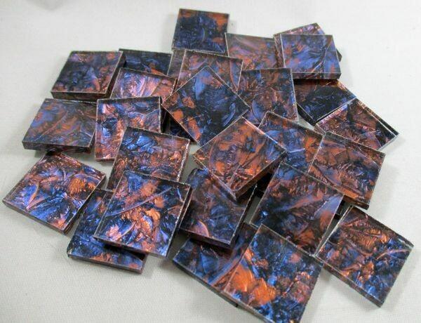 Blue & Copper Van Gogh Tiles