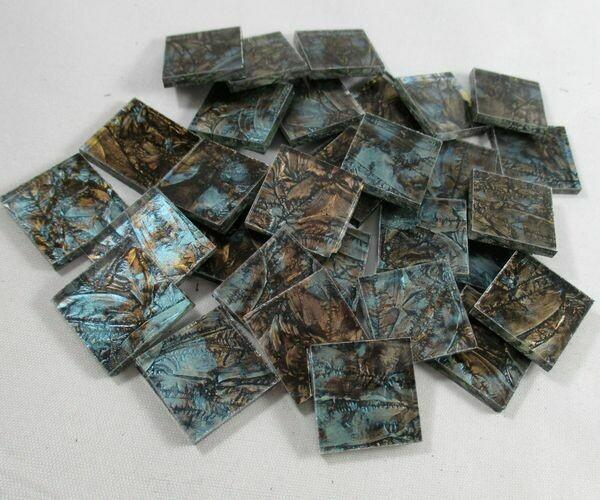 Bluegreen & Champagne Van Gogh Tiles