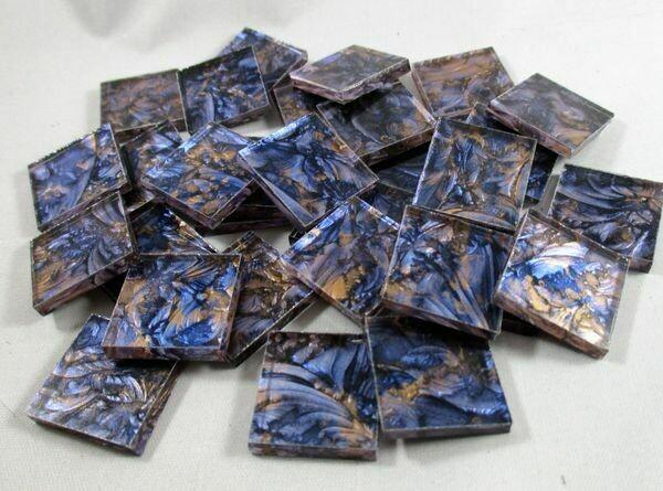 Blue & Bronze Van Gogh Tiles