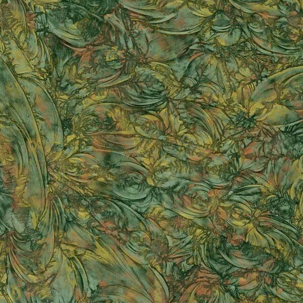 Green, Copper & Gold Van Gogh Sheet