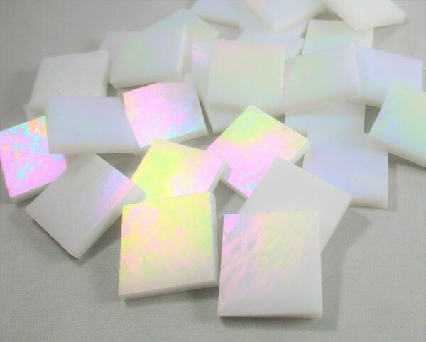 Iridescent White Tiles