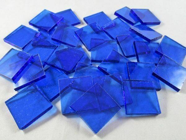 Transparent Royal Blue Tiles