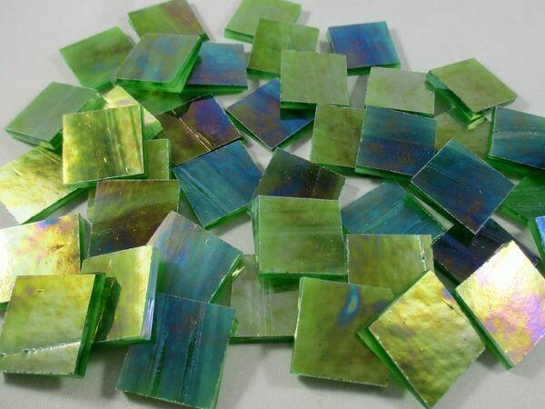 Iridescent Leaf Green Tiles