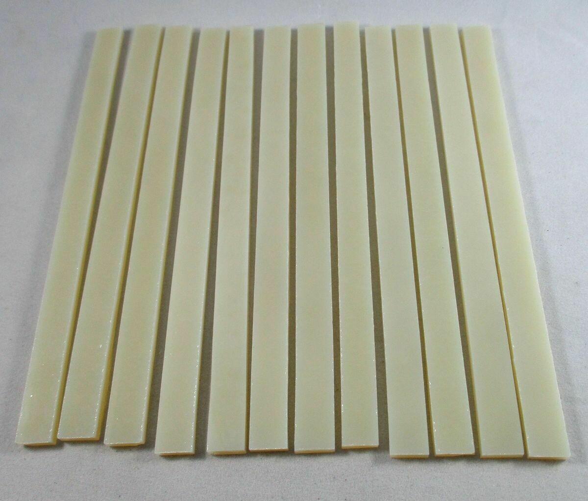 """12 Opaque Cream 6"""" Strips"""