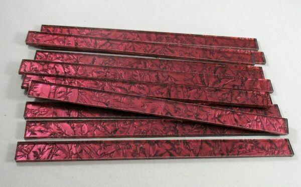 """12 Red Van Gogh 6"""" Strips"""
