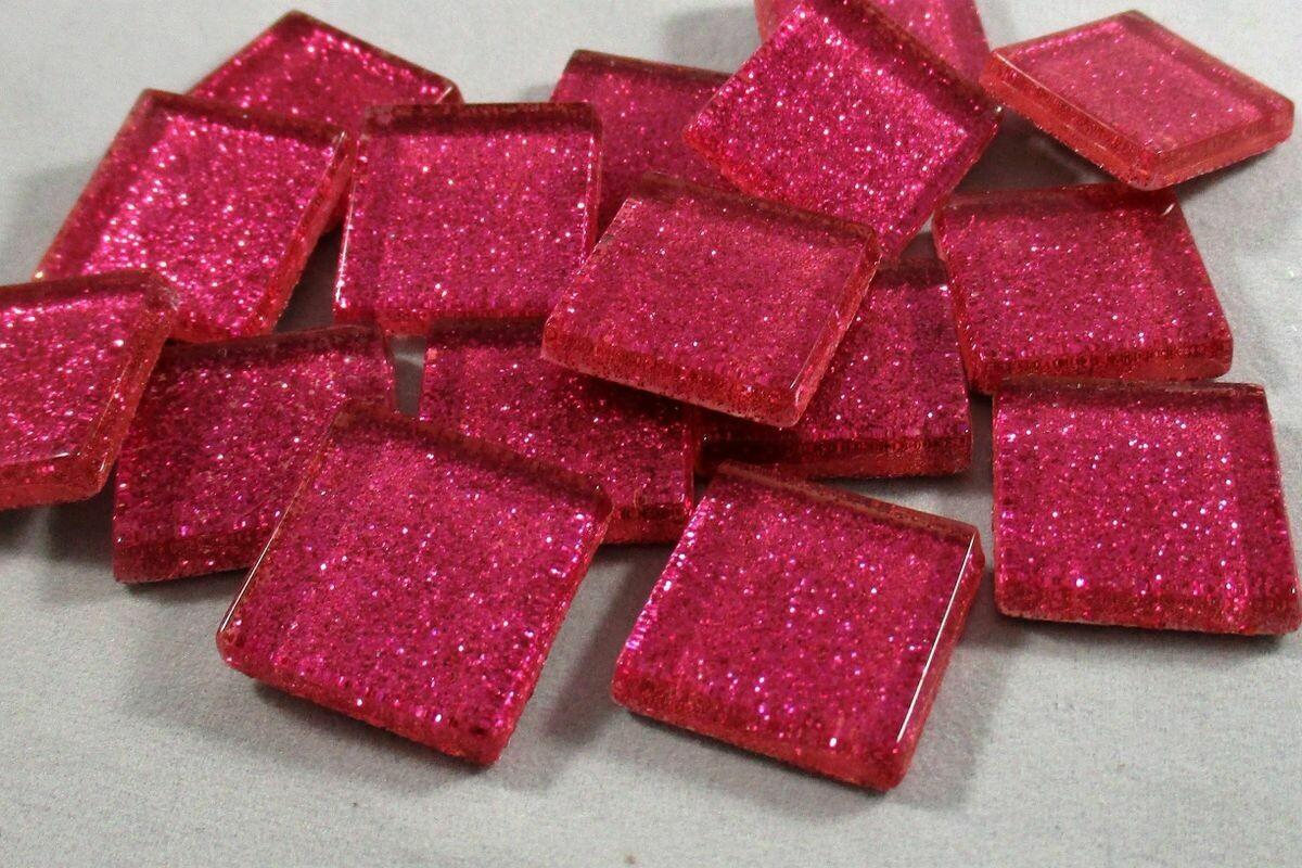 Hot Pink Glitter Tiles