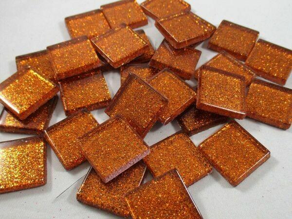 Orange Glitter Tiles