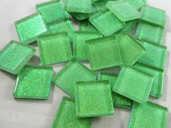 Spring Green Glitter Tiles