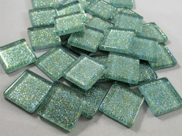 Seafoam Glitter Tiles