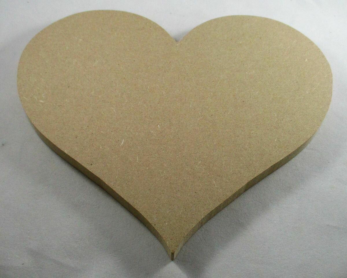 """8"""" Heart Base - 3/4"""" Thick MDF"""